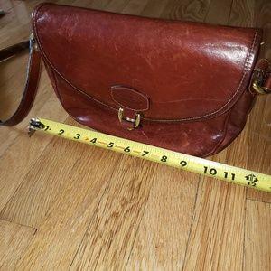 OROTON brown leather crossbody bag